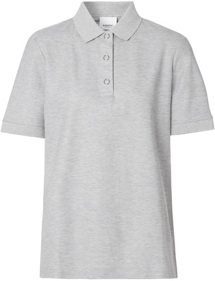 Burberry embroidered TB motif polo top