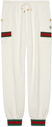 Gucci Jersey jogging pants with Web