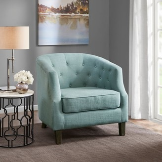 Madison Home USA Aden Dusty Aqua Chesterfield Barrel Chair