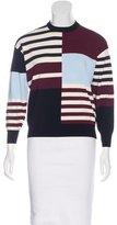 J Brand Colorblock Rib Knit Sweater