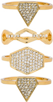 Luv Aj Pave Shield Ring Set