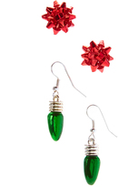 Carole Holiday Bow & Christmas Bulb Earrings Set
