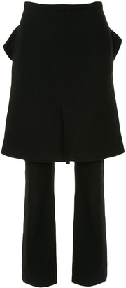Junya Watanabe Comme Des Garçons Pre Owned Skirt Over Trousers