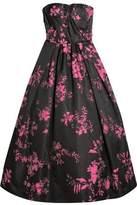 Oscar de la Renta Floral-Jacquard Gown