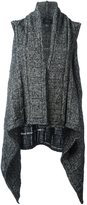 Lost & Found Ria Dunn - draped sleeveless cardi-coat - women - Silk/Wool - M