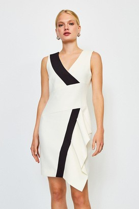 Karen Millen Wrap Waterfall Short Dress