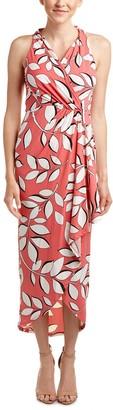 Adrianna Papell Women's Halter Neck High Low Wrap Dress
