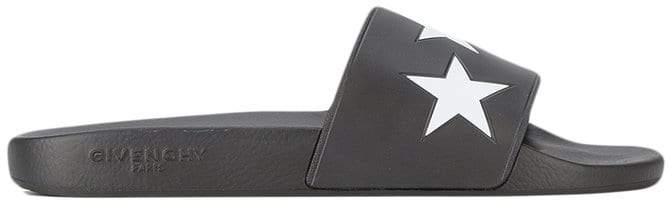 Givenchy white star pool slides
