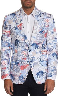 Robert Graham Men's Ascari Floral-Print Two-Button Jacket