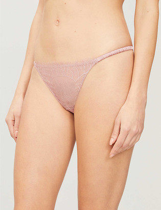 Muse By Coco De Mer Lily low-rise lace thong