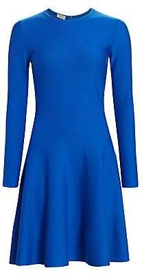 Akris Punto Women's Long Sleeve Wool Fit-&-Flare Dress