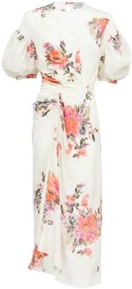 Preen by Thornton Bregazzi Bianca Floral-print Crepe De Chine Midi Dress - White Print