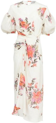 Preen by Thornton Bregazzi Bianca Floral-print Crepe De Chine Midi Dress - Womens - White Print