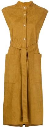 MACKINTOSH Belted-Waist Sleeveless Shirtdress