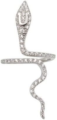 Wild Hearts Snake Ring Silver