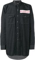 Miharayasuhiro patch-detail denim shirt - men - Cotton - 46