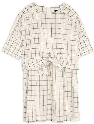 Joe's Jeans Girls' Tie-Front Checked Dress - Big Kid