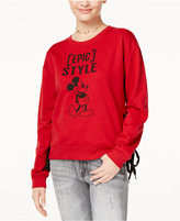 Freeze 24-7 Juniors' Mickey Graphic Lace-Up Sweatshirt