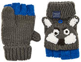 Joules Little Joule Children's Wolf Character Mittens, Grey