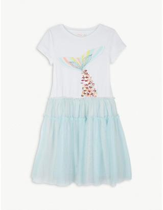 Billieblush Mermaid tail cotton tulle dress 4-12 years