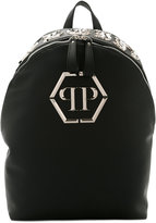 Philipp Plein embellished logo backpack - men - Polyurethane - One Size