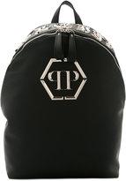 Philipp Plein embellished logo backpack