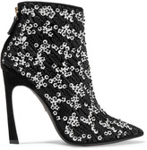 Giambattista Valli Embellished suede ankle boots