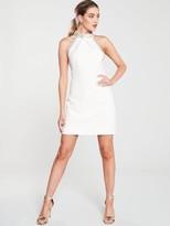 Karen Millen Chain Detail Mini Dress - Ivory