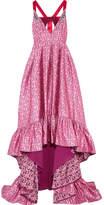 Erdem Janet Satin-trimmed Embellished Jacquard Gown - Pink