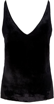 J Brand Contrast Back Silk Lucy Cami Top