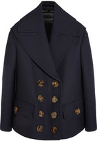 Burberry Wool And Silk-blend Coat - Storm blue