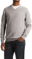 Forte Cashmere Classic V-Neck Sweater - Cashmere (For Men)