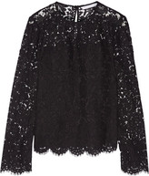 Diane von Furstenberg Yeva Corded Lace Top - Black