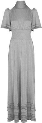 M Missoni Silver stretch-knit maxi dress