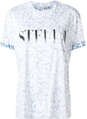 Stella McCartney logo floral T-shirt