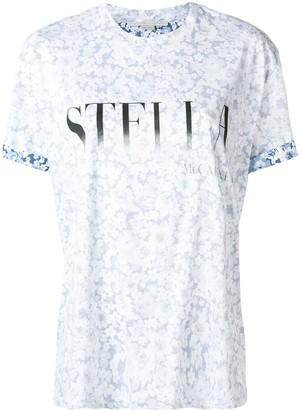 Stella McCartney logo floral T-shirt