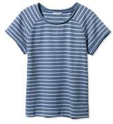 L.L. Bean Signature Short-Sleeve Scoopneck Sweatshirt, Stripe