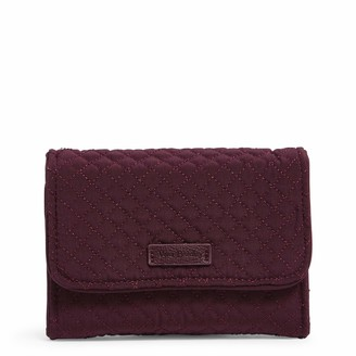 Vera Bradley Women's Iconic RFID Riley Compact Wallet Microfiber