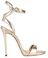 Giuseppe Zanotti Coline Ankle Strap Metallic Leather Sandals