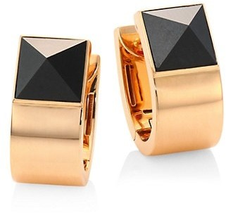 Roberto Coin Sauvage Prive Pyramid Black Jade & 18K Rose Gold Earrings