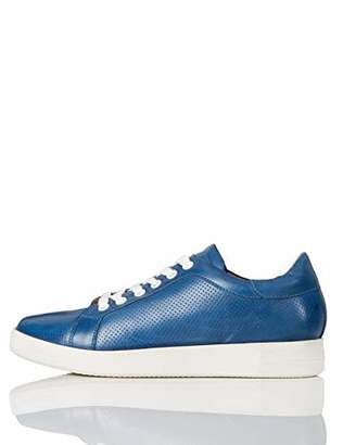 find. Simple Leather Low-Top Sneakers, Light Blue)