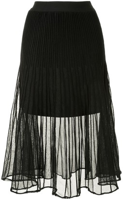 Izzue Pleated Midi Skirt