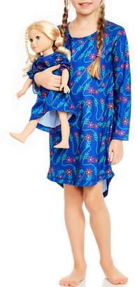Leveret Flower Vine Nightgown & Matching Doll Nightgown (Toddler, Little Girls, & Big Girls)