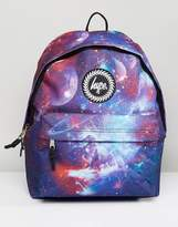 Hype Backpack In Purple Space Print