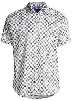 Robert Graham Men's Racing Flags Check Sport Shirt