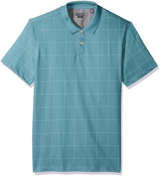 Van Heusen Men's Fit Flex Short Sleeve Stretch Windowpane Polo Shirt