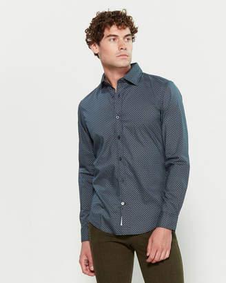 Ganesh Geometric Pattern Long Sleeve Sport Shirt