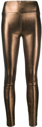 Sprwmn Fitted Metallic Trousers