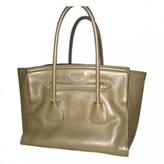 Prada Khaki Leather Handbag