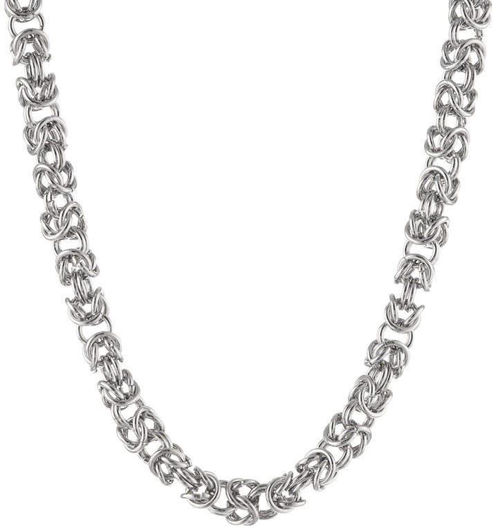 JCPenney FINE JEWELRY Mens Stainless Steel 18 7mm Byzantine Chain